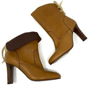 See by Chloé Lara Leather Ankle Boots Lace Up